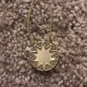 House of Harlow mini pave starburst necklace